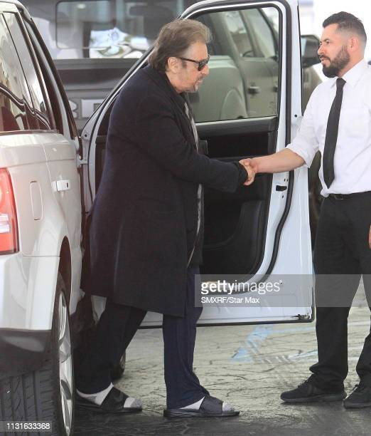 Al Pacino is seen on March 19 2019 in Los Angeles California