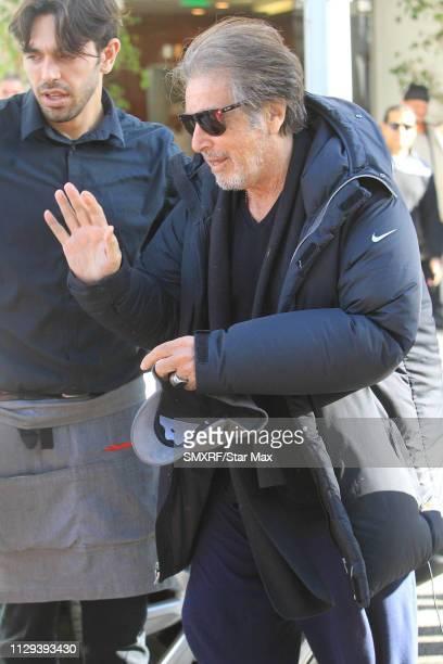 Al Pacino is seen on March 8 2019 in Los Angeles California