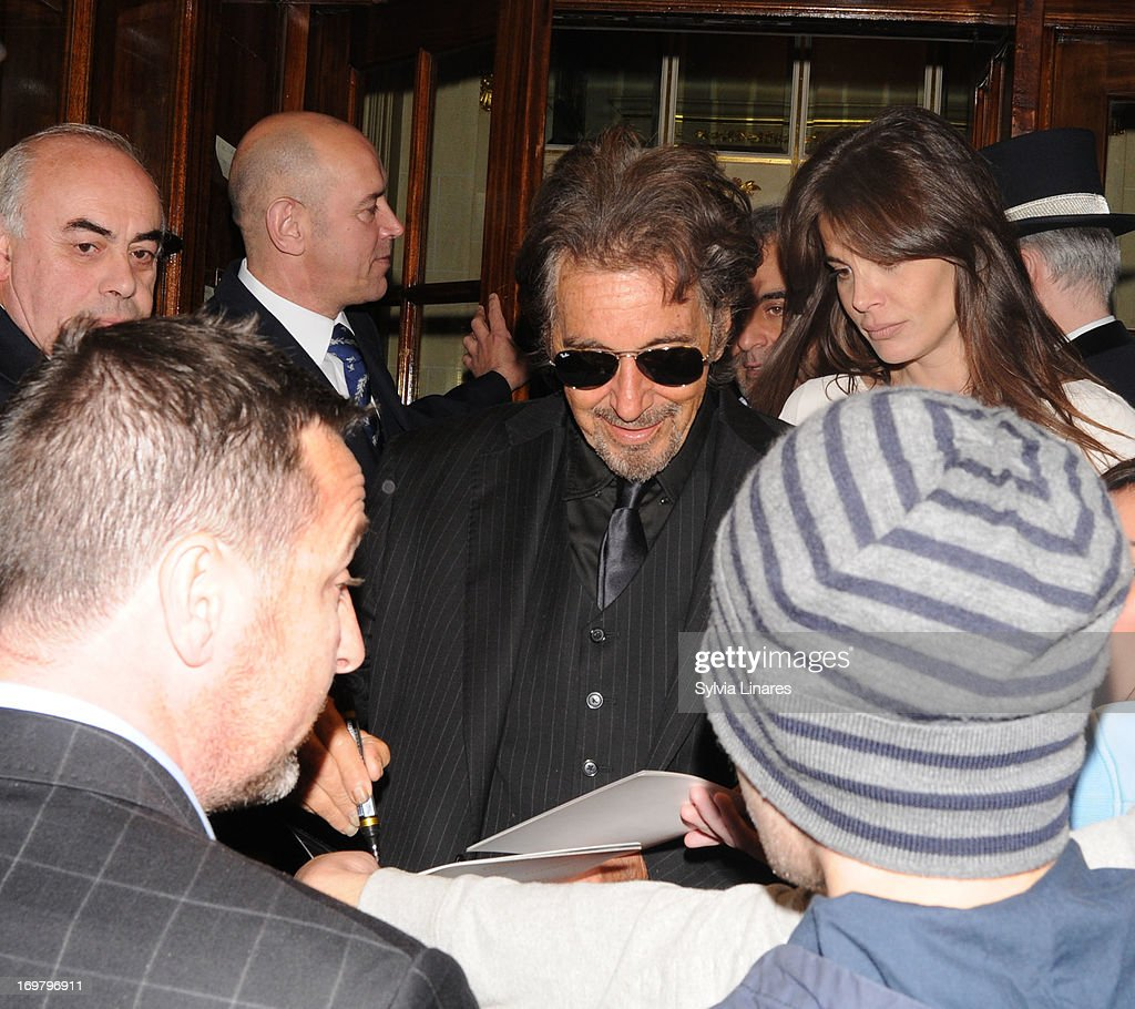 Al Pacino leaving The Ritz Hotel on June 1, 2013 in London, England.