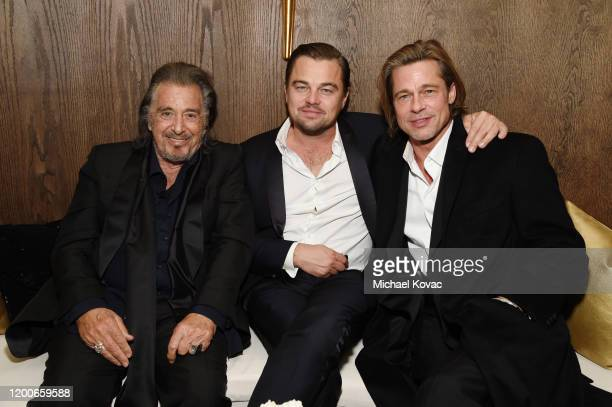 Al Pacino, Leonardo DiCaprio and Brad Pitt attend 2020 Netflix SAG After Party at Sunset Tower on January 19, 2020 in Los Angeles, California.
