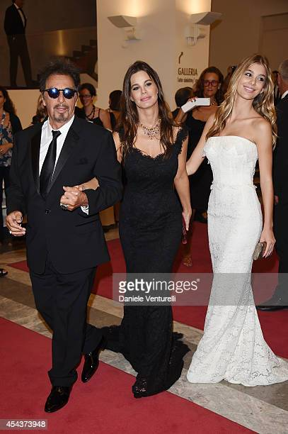 Al Pacino Lucila Sola and Camila Sola attend 'Manglehorn' Premiere during the 71st Venice Film Festival at Sala Grande on August 30 2014 in Venice...
