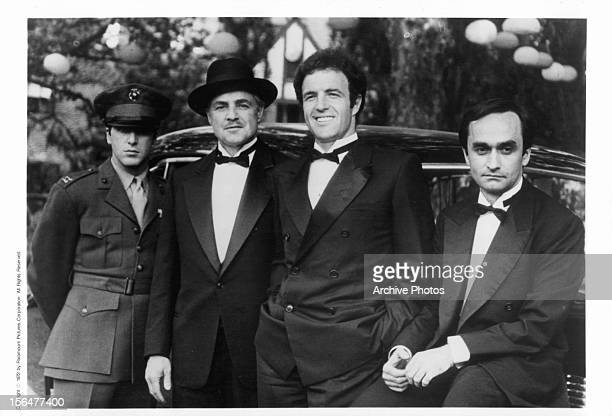 Al Pacino Marlon Brando James Caan and John Cazale publicity portrait for the film 'The Godfather' 1972