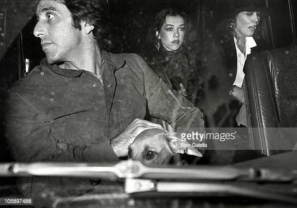Al Pacino Marthe Keller and Guest during Al Pacino Sighting at the Regency Hotel October 14 1982 at Regency Hotel in New York City New York United...