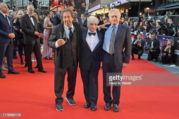 Al Pacino Martin Scorsese and Robert De Niro attend the International Premiere and Closing Night Gala screening of NETFLIX's The Irishman during the...