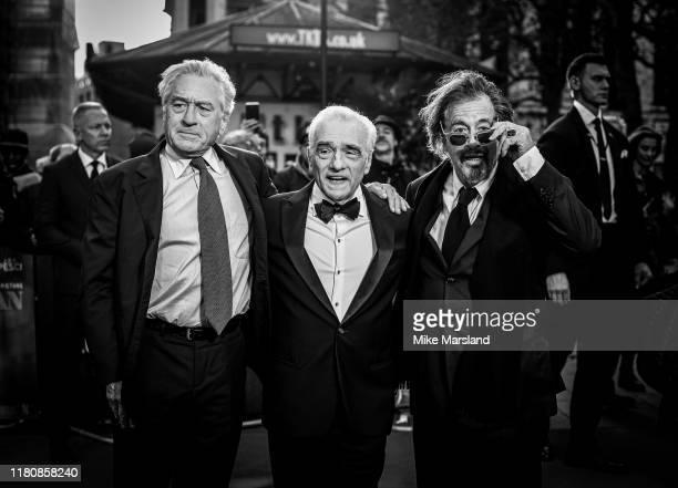 Al Pacino Martin Scorsese and Robert De Niro attend The Irishman International Premiere and Closing Gala during the 63rd BFI London Film Festival at...