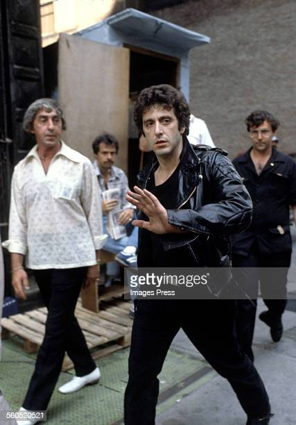 Al Pacino on a filmset circa 1980 in New York City