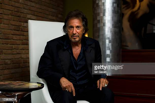 Al Pacino poses for a portrait for Jaeger LeCoultre during the 68th Venice Film Festival on September 4 2011 in Venice Italy