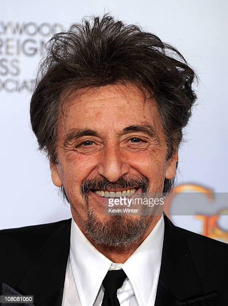 """Al Pacino poses with his award for Best Performance by an Actor in a Mini-Series or Motion Picture Made for Television for """"You Don't Know Jack"""" in..."""