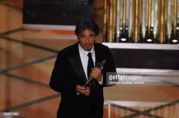 Al Pacino presenter of an Honorary Oscar to Sidney Lumet