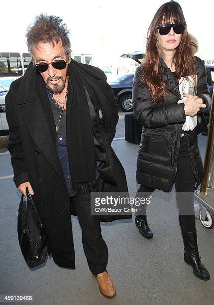 Al Pacino seen at LAX on November 17 2014 in Los Angeles California