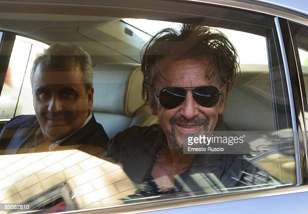 Al Pacino sighting at The Rome Film Festival at the Hassler Hotel on October 22 2008 in Rome Italy