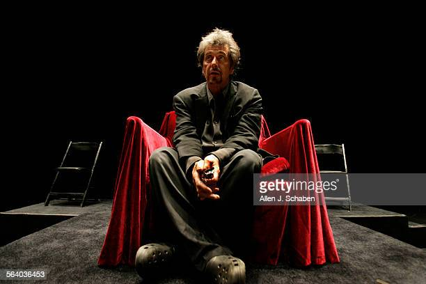 Al Pacino, who plays Herod Antipas, is starring in a stage production of Salome in town – while simultaneously shooting a documentary about the...