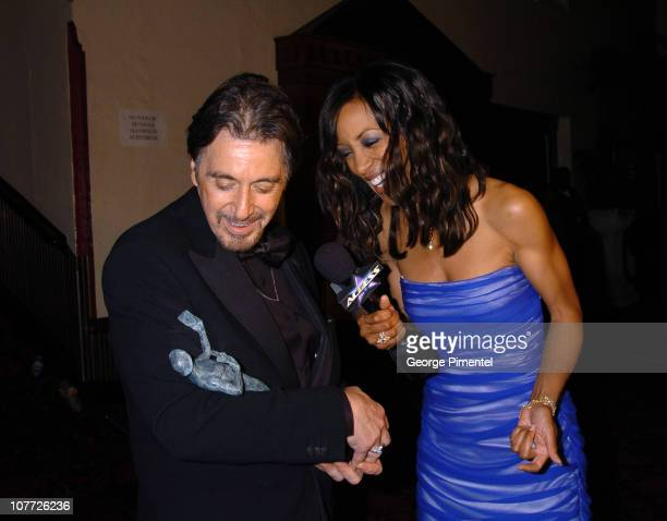 Al Pacino winner for Outstanding Performance by a Male Actor in a Television Movie or Miniseries for Angels in America with Access Hollywood's Shaun...