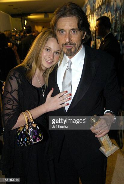 Al Pacino winner of the Golden Globe for Best Performance by an Actor in a MiniSeries 'Angels in America' and daughter