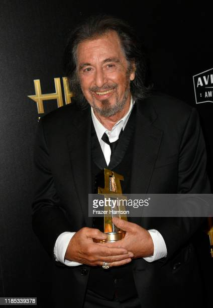 Al Pacino winner of the Hollywood Supporting Actor Award poses in the press room during the 23rd Annual Hollywood Film Awards at The Beverly Hilton...