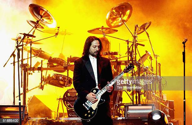 Al Pitrelli performs as part of the west coast touring production of the Trans Siberian Orchestra perform at the H.P. Pavilion on December 21, 2004...