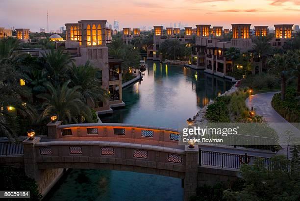 Al Qasr hotel and canal , Dubai , United Arab Emirates