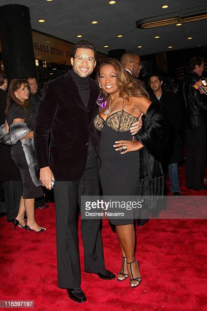 Al Reynolds and Star Jones during 'The Color Purple' Broadway Opening Night Arrivals at The Broadway Theatre in New York City New York United States