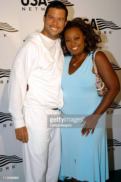 Al Reynolds and Star Jones during USA Network Celebrates the Opening of the 2004 US Open at ACES Restaurant at Arthur Ashe Stadium in New York City,...