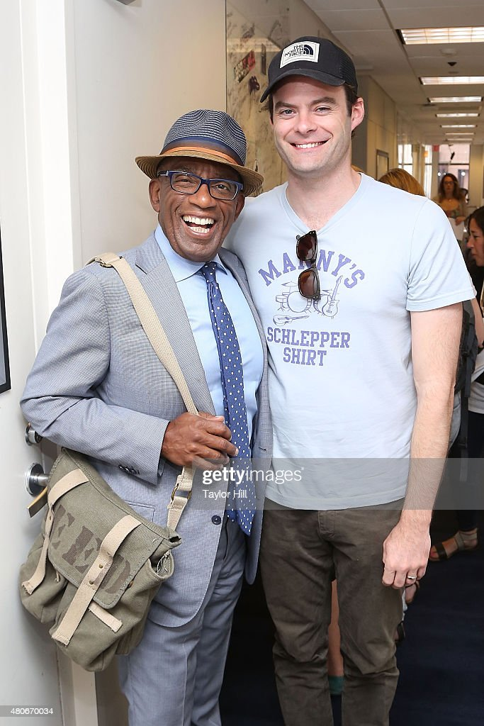 Al Roker and Bill Hader visit the SiriusXM Studios on July 14, 2015 in New York City.