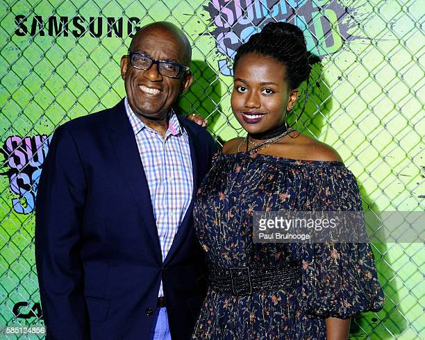 Al Roker and daughter Leila Roker attend The World Premiere of Warner Bros Pictures and Atlas Entertainment's Suicide Squad at The Beacon Theatreq on...