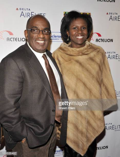 Al Roker and Deborah Roberts attend Cool Comedy Hot Cuisine on Broadway to benefit the Scleroderma Research Foundation at Carolines on Broadway on...