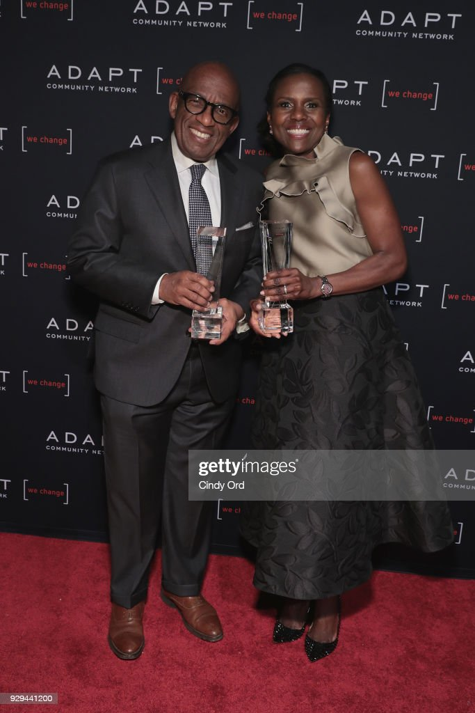 Al Roker and Deborah Roberts attend the Adapt Leadership Awards Gala 2018 at Cipriani 42nd Street on March 8, 2018 in New York City.
