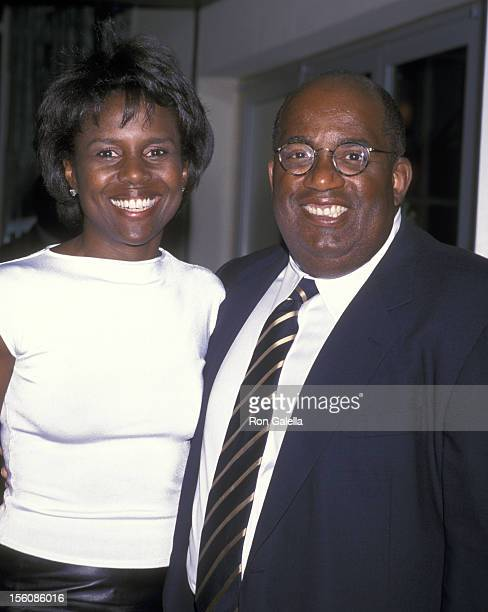 Al Roker and Deborah Roberts during Ennis William Cosby Foundation Benefit Gala April 2 2001 at Pier 60 at Chelsea Piers in New York City New York...