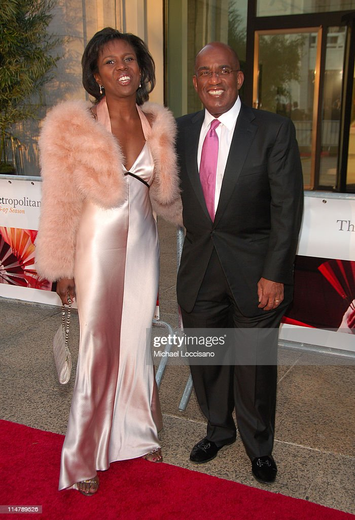 Al Roker and Deborah Roberts during 'Madama Butterfly' Opening Night Starting the Lincoln Center Metropolitan Opera 2006-2007 Season at Lincoln Center in New York, New York, United States.
