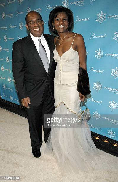 Al Roker and Deborah Roberts during Third Annual UNICEF Snowflake Ball Arrivals at Cipriani's in New York City New York United States
