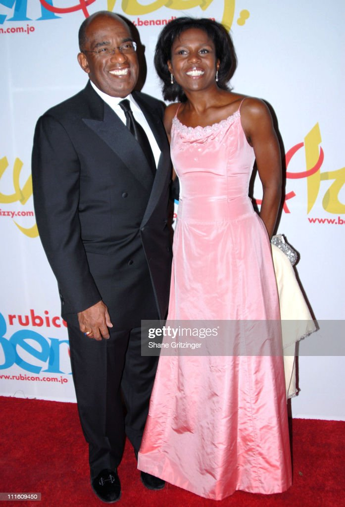 Al Roker and Deborah Robinson during Rubicon's 'Ben and Izzy' Gala with Special Host Her Majesty Queen Rania Al-Abdullah of Jordan at The Metropolitan Museum Of Modern Art in New York City, New York, United States.