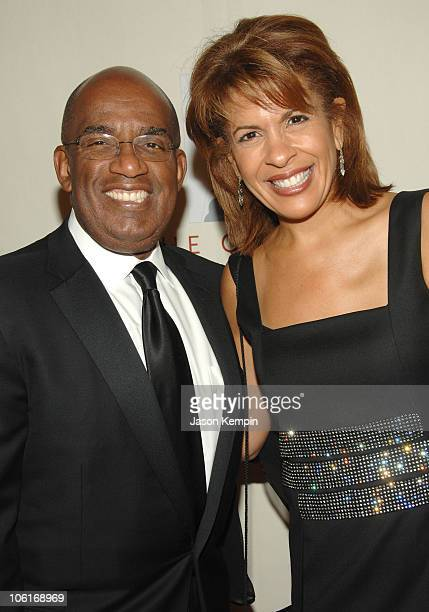 Al Roker and Hoda Kotb attend the 3rd Annual Quill Awards at Fredrick P Rose Hall on October 22 2007 in New York City
