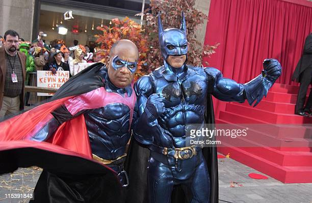 Al Roker and Matt Lauer during NBC Today Show Hosts Celebrate Halloween 2005 at NBC Studios Rockefeller Plaa in New York City New York United States