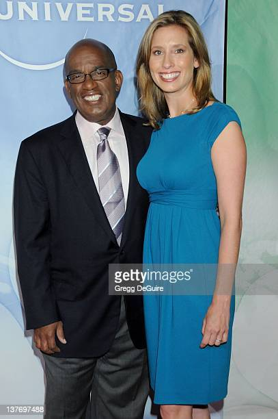 Al Roker and Stephanie Abrams arrive for the NBC Universal TCA Press Party at the The Langham Huntington Hotel Spa in Pasadena California on August 5...