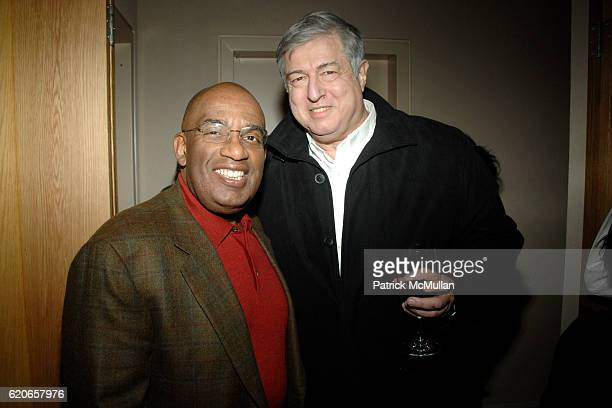 Al Roker and Tim Zagat attend Daniel Boulud's BAR BOULUD Opening Reception at Bar Boloud on January 3 2008 in New York City