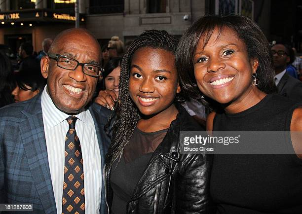 Al Roker daughter Leila Roker and wife Deborah Roberts attend the Broadway opening night for Shakespeare's Romeo And Juliet at The Richard Rogers...