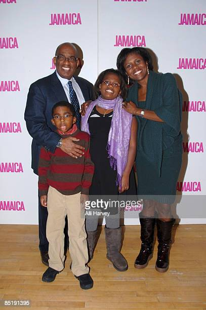 Al Roker Deborah Roberts and their two children Leila Roker and Nicholas Roker attend the launch of First Ladies Tour series on We TV at the Helen...