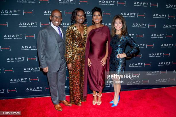 Al Roker Deborah Roberts Tamron Hall and Susan Lucci attend the 2019 Adapt Leadership Awards at Cipriani 42nd Street on March 14 2019 in New York City