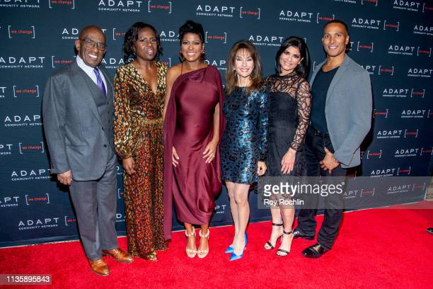 Al Roker Deborah Roberts Tamron Hall Susan Lucci Tamsen Fadal and Mike Woods attend the 2019 Adapt Leadership Awards at Cipriani 42nd Street on March...