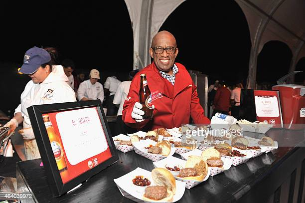 Al Roker enjoys a 95 calorie Official Beer of the Burger™ at Amstel Light Burger Bash hosted by Rachael Ray during the 2015 Food Network Cooking...