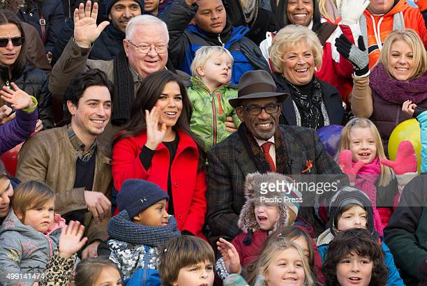 Al Roker Golden Globe winner America Ferrera and Guests participated on the 89th Macys Thanksgiving Day Parade in New York City The Macys...