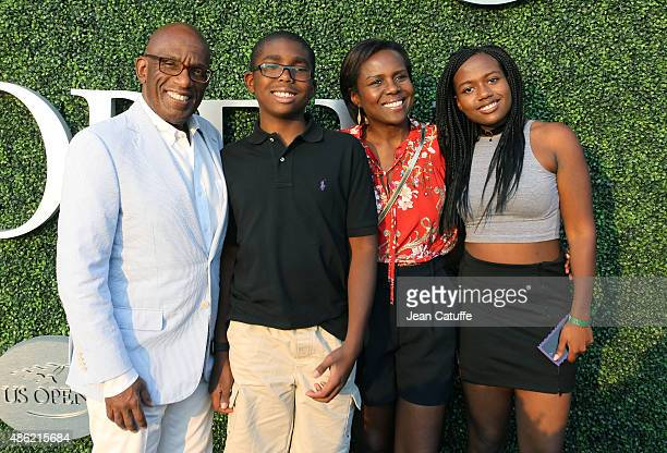 Al Roker his wife Deborah Roberts and their children Leila Roker and Nicholas Albert Roker attend day two of the 2015 US Open at USTA Billie Jean...