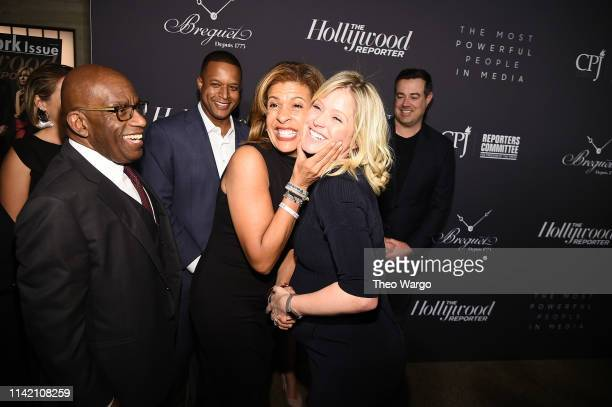 Al Roker Hoda Kotb and guest attend the The Hollywood Reporter's 9th Annual Most Powerful People In Media at The Pool on April 11 2019 in New York...