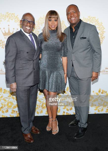 Al Roker Holly Robinson Peete and Rodney Peete attend Hallmark Channel And Hallmark Movies And Mysteries 2019 Winter TCA Tour at Tournament House on...