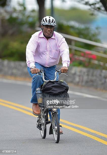 Al Roker is seen riding his bicycle on October 15 2012 in New York City