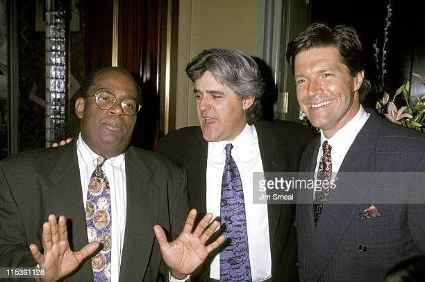 Al Roker Jay Leno and Stone Phillips during NBC Party Welcoming Jay Leno to New York at The Rainbow Room in New York City California United States