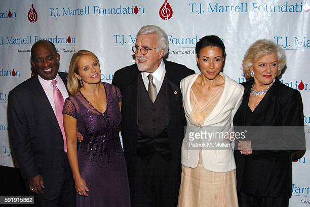 Al Roker Katie Couric Tony Martell Ann Curry and Frances W Preston attend The TJ Martell Foundation 30th Anniversary Gala at Marriott Marquis Hotel...