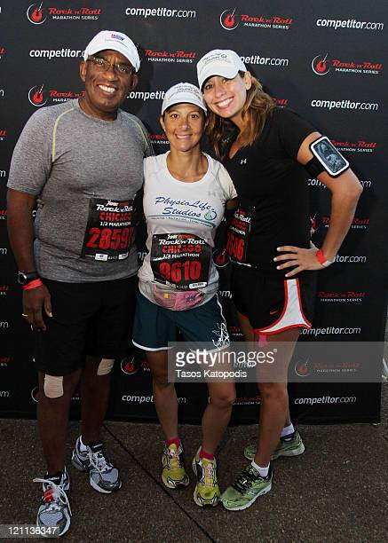 Al Roker Melissa BowmanLi and Stephanie Abrams take part in the XSport Fitness Rock 'n' Roll Half Marathon to benefit the American Cancer Society at...