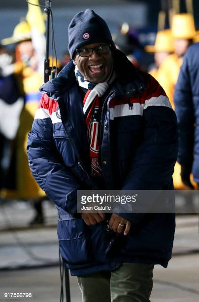 Al Roker on the set of the Today Show during the 2018 Winter Olympic Games at Gangneung Olympic Park on February 12 2018 in Gangneung Pyeongchang...