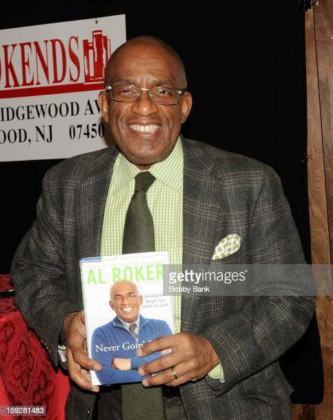 """Al Roker promotes """"Never Going Back"""" at Bookends Bookstore on January 10, 2013 in Ridgewood, New Jersey."""